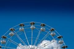 Ferris Wheel. On blue sky, in an amusement park Royalty Free Stock Photo