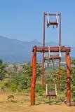 Ferris wheel. Wood, natural wisdom Stock Photos
