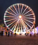 Ferris-wheel. At night in Prater. Wiener Prater is a large public park in Vienna's 2 nd district stock photo