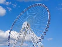 Ferris Wheel. On a sky background Royalty Free Stock Photo