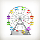 Ferris wheel. Computer illustration on white background Stock Images