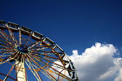 Ferris wheel. In fun park Stock Images