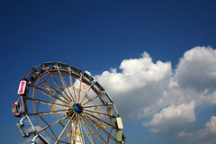 Ferris wheel. And cloudy sky Royalty Free Stock Photos