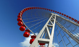 Ferris Wheel. On a sky background Royalty Free Stock Images