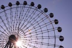 Ferris wheel. Big ferris wheel and sunshine Royalty Free Stock Images