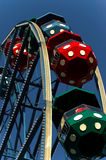 Ferris wheel. Colourful ferris wheel pods going up Stock Photos