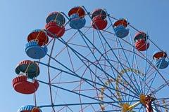Ferris wheel. Over blue sky Stock Photos