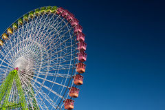 Ferris wheel. Isolated on blue, working in the fair of Albacete Royalty Free Stock Photos