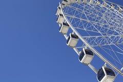 Ferris wheel. In blue sky stock photos