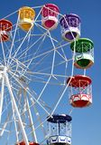 Ferris wheel. Attraction Ferris wheel at Amusement park on sunny day Royalty Free Stock Images