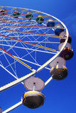 Ferris wheel. Big ferris wheel against blue sky Stock Images