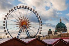 Ferris wheel. In the Christmas market in Berlin Stock Photography