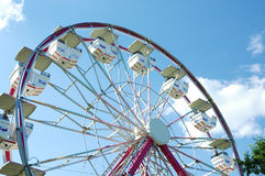 Ferris Wheel 3/4. Ferris wheel at carnival royalty free stock images