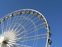 Ferris wheel 3. Photo of a big white ferris wheel against the blue sky Royalty Free Stock Photography