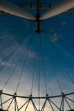 Ferris wheel. Big ferris wheel on sky background Royalty Free Stock Photo