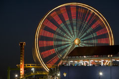 Ferris Wheel 4. Horizontal image of the Pacific Wheel, recently sold at auction, at the Santa Monica Pier amusement park Stock Photography