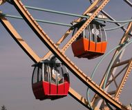 Ferris Wheel. Gondolas Royalty Free Stock Photos