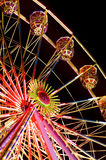 Ferris wheel. A ferris wheel at night stock photography