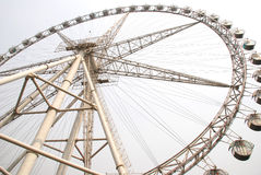 The Ferris wheel. A steel ferris wheel in the amusement park Royalty Free Stock Images