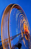 Ferris wheel. One of the crazy festival ferris wheels in Prague. Beautiful neon light show royalty free stock images