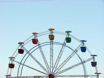 Ferris Wheel. A colorful ferris wheel in an Indian amusement park Stock Photo