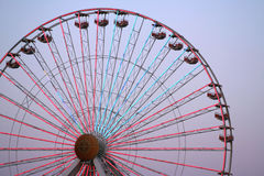 Ferris Wheel. Tall ferris wheel at sundown Stock Photo