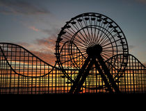 Ferris wheel. And amusement park Royalty Free Stock Images