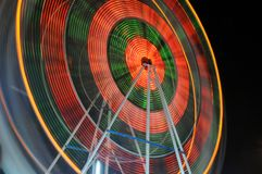 Ferris Wheel. Blured motion of Ferris Wheel at night Stock Photography
