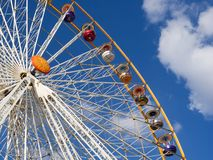Ferris wheel. Huge Ferris wheel at the Vincennes fair (Foire du Trone) - Paris, France stock images