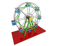 Ferris Wheel. 3d render of ferris wheel. Isolated on white background Stock Image