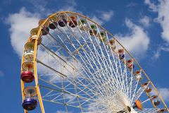 Ferris wheel. Huge Ferris wheel at the Vincennes fair (Foire du Trone) - Paris, France stock photos