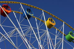 Ferris wheel. Part of the ferris wheel. Blue sky in the background Royalty Free Stock Photos