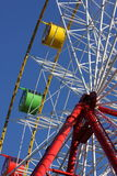 Ferris wheel. In the amusement park. Blue sky in the background Royalty Free Stock Photography