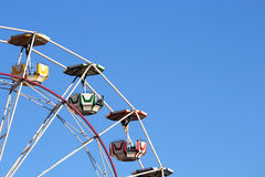 Ferris Wheel. With Christmas decoration with a large sky area for any text Royalty Free Stock Image