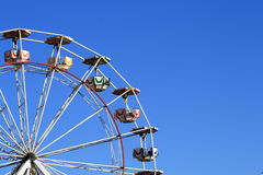 Ferris Wheel. Against a clear blue sky for any text Royalty Free Stock Images