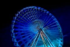 Neon Ferris Wheel Stock Photo