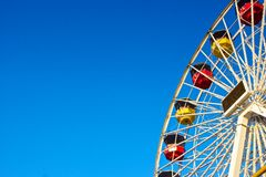 Ferris Wheel with Ad Space Royalty Free Stock Images