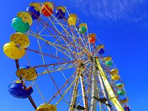 Ferris wheel. Against the blue sky Stock Photography