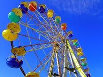 Ferris wheel. Against the blue sky Stock Photography