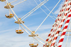 Ferris wheel against a blue sky Stock Photo