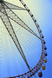 Ferris wheel against the blue sky Royalty Free Stock Image