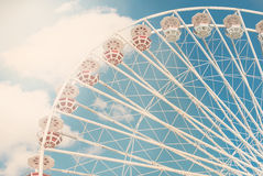Ferris wheel against the blue sky Stock Photo