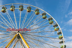 Ferris wheel against a blue sky at the Christmas fair in Duisbur Royalty Free Stock Images