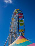 Ferris Wheel Against Blue Sky Stock Images