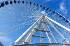 Ferris wheel against a blue sky: Erfurt, Thuringen, Germany-Sept Royalty Free Stock Images
