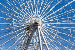 Ferris wheel against the blue sky. In the park in nature Royalty Free Stock Photos