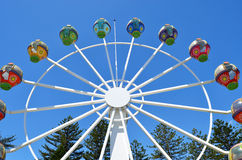 Ferris wheel against a blue sky Royalty Free Stock Image