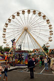 Ferris wheel against the blue sky,Holland Stock Image