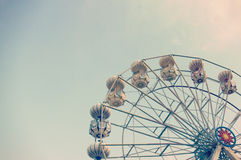 Ferris wheel against blue sky Royalty Free Stock Images