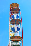 Ferris wheel against a clear blue sky. Royalty Free Stock Photo